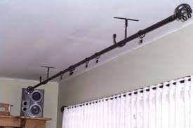 Hang Curtains From Ceiling Hang Curtain Rod From Ceiling Click Here Mount Curtain