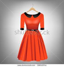 flat shading style icon fluffy dress stock vector 717533536