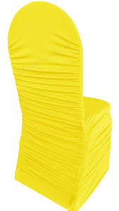 canary yellow ruched rouge spandex stretch chair covers wholesale