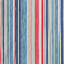 Blue And White Striped Upholstery Fabric A8476 Nautical Greenhouse Fabrics