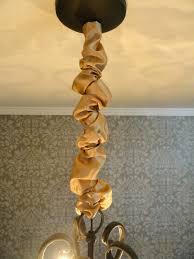 fabric chandelier new rachel s nest diy chandelier chain cover