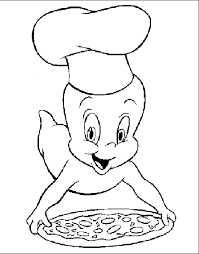 casper cooking pizza coloring pages casper coloring pages