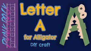 a for alligator best letter crafts for kids u0026 teachers fun