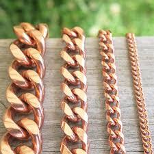 copper link bracelet images Custom size solid copper heavy cuban curb link bracelet copper jpg