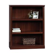 Bookshelf 3 Shelf Amazon Com Sauder 3 Shelf Bookcase Select Cherry Finish Kitchen