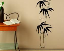 Bamboo Wall Vase Stalk Vinyl Etsy