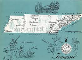 Maps Tennessee by Tennessee Map Original Vintage 1960s Picture Map Fun Retro