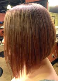 medium length swing hair cut long inverted bob with a dramatic angle minimal stacking in the
