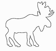 moose template homey idea moose outline images clip vector template