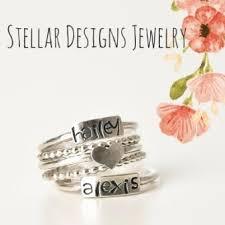 stacking name rings stacking ring set sterling silver