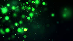 bright green points coming up against a black background stock