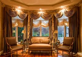 Bow Window Shades Living Room Window Treatments Curtains Curtains And Shades