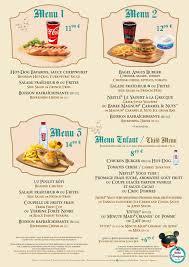 los patios menu chalet marionnette ete 2016 2 disneyland paris restaurants menus