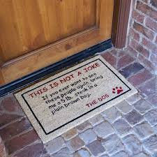 Rubber Cal Wipe Your Paws Bring A 5lbs Steak Dog Door Mat