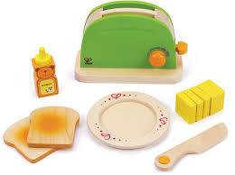 spielküche zubehör holz hape zubehör aus holz für kinderküche pop up toaster