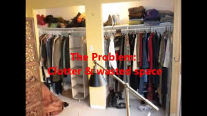 diy closet makeover economical organization with a sitting area