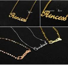 Name Necklaces Silver Sueellen Two Capital Letters Carrie Style Name Necklace With