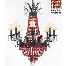 White Chandelier With Shades Crystal Chandelier Lighting With White Shades Free Shipping