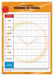 horaires de bureau affichage obligatoire sur les horaires de travail seton fr