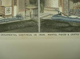 ornamental castings in iron mantel pices grates 1882 maurice