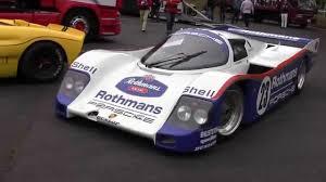 rothmans porsche 956 rothmans porsche 962c twin turbo engine start up u0026 exhaust sound
