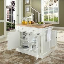 crosley kitchen island crosley furniture butcher block top kitchen island kitchensource