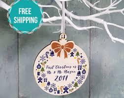 personalised christmas decoration christmas tree ornament