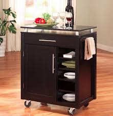 small kitchen island cart with stainless steel top stainless steel