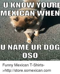 Mexican Funny Memes - u know youre mexican when una meur dog oso nematic funny mexican t