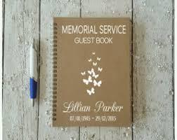memorial service guest books memorial book etsy