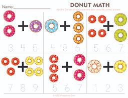 donut math preschool worksheet from abcpreschoolbox com free