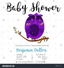 baby shower invitation card cute kids stock vector 623289137