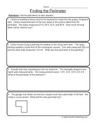 finding the perimeter perimeter worksheet 1