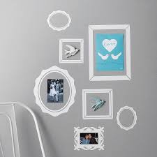 sticker wall frame wall frame stickers pack of seven picture frame wall stickers by nutmeg