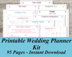 wedding planning book organizer chic wedding planner book ideas free printable wedding planner