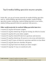 Example Medical Resume Medical Billing Resume Sample Resume Samples And Resume Help