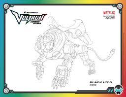 voltron legendary defender colouring black lion