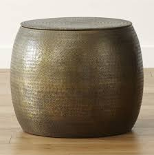 Metal Drum Accent Table All Occasional Tables Crate And Barrel