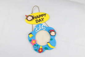 2016 monkey year diy air dry clay hanger hanging picture frame