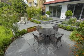 family garden family garden living space designed with informal stepping stones