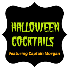 halloween cocktail recipes featuring captain morgans rum