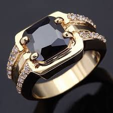 aliexpress buy fashion big size 18k gold plated men wholesale classic retro men s rings black zirconia gold