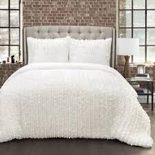 White Ruffled Comforter Lush Decor Comforter Sets For Less Overstock Com