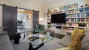 Family Room Cool Bookcases Ideas Living Room Cool Cozy Living Room With Tv Simple Fireplace And