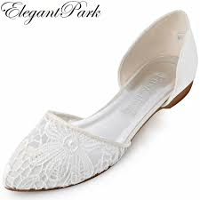 wedding shoes flats ivory women lace wedding flats ivory pointed toe two pieces comfortable
