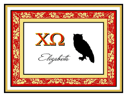 Sorority Picture Frame Diane U0027s Personalized Note Cards For Sororities Diane U0027s
