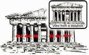 how greek temples correct visual distortion u2013 architecture revived
