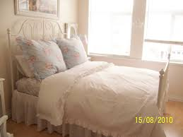 white cottage chic a shabby chic bed