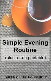 printable evening schedule simple evening routine a free printable evening routine