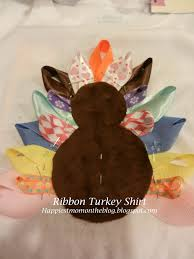 happiest mom on the blog turkey ribbon shirt tutorial